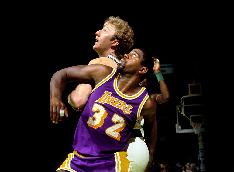 reputable site 2fd3c dae56 Larry Bird / Magic Johnson dual signed 8×10 photo #1