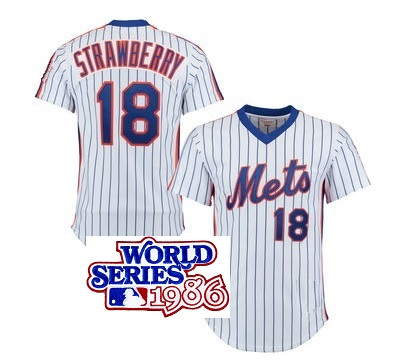 superior quality d38cd e24a5 DARRYL STRAWBERRY signed Mets jersey w/ 1986 World Series patch