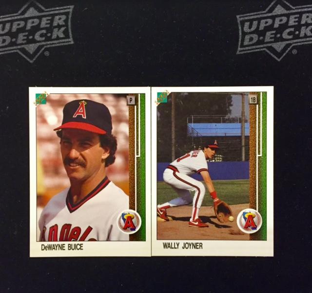 1988 Upper Deck Promo Cards Of Dewayne Buice Wally Joyner 1st Ud Cards Ever Produced