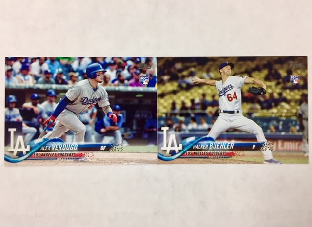 2018 Topps Dodgers 32 Card Team Set With Rookie Cards Of Walker Buehler Alex Verdugo