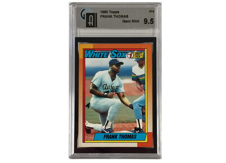 1990 Topps Frank Thomas Rookie Card Gai 95 Graded In Gem Mint Condition