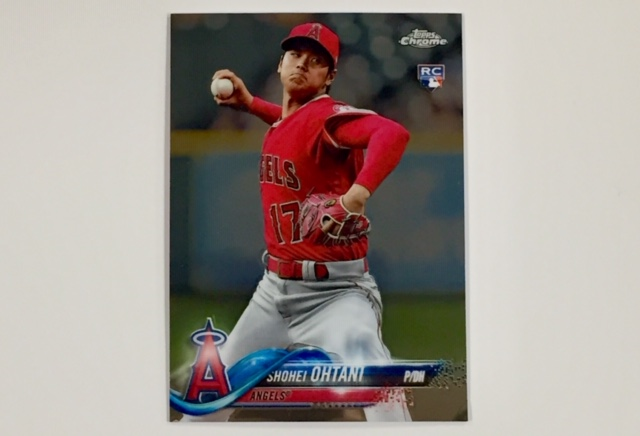 Shohei Ohtani 2018 Topps Chrome Update Rookie Card Pitching