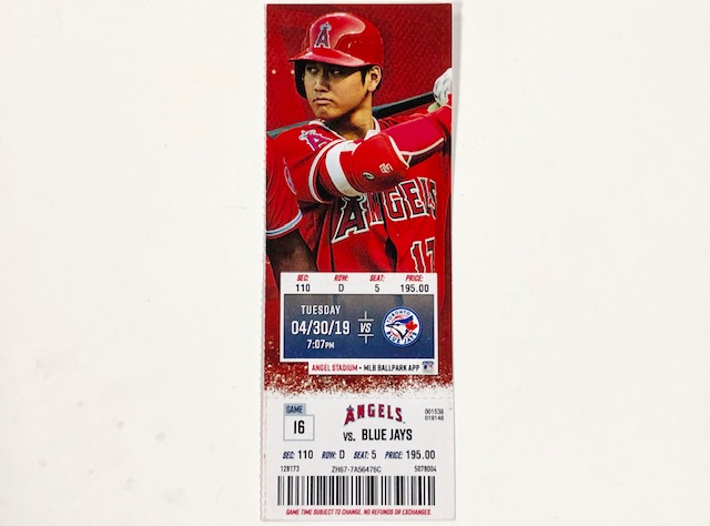 Griffin Canning MLB Debut 4/30/2019 Angels Full Game Tickets