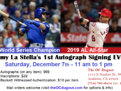 Tommy La Stella's 1st Autograph Signing Ever!