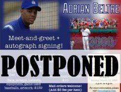 Adrian Beltre Public Autograph Signing