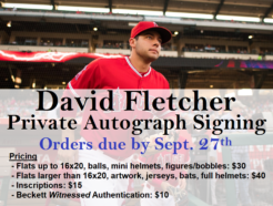 David Fletcher Private Autograph Signing