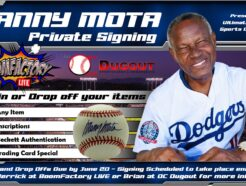Manny Mota Private Signing (orders due by June 20)
